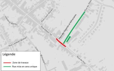 Info travaux – rue de Huy du 25 mai au 22 juin