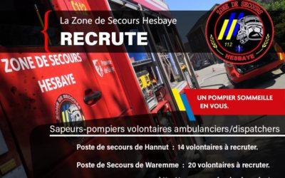 La Zone de secours Hesbaye recrute