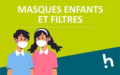 Masques enfant et filtres disponibles à l'administration
