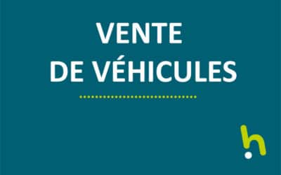 Vente individuelle de cinq véhicules