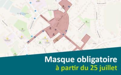 Port du masque obligatoire à partir du 25 juillet