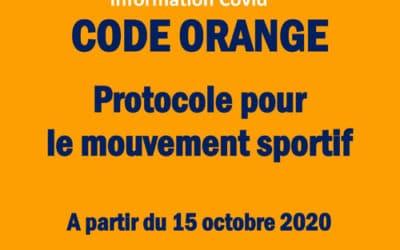 Code orange pour le mouvement sportif