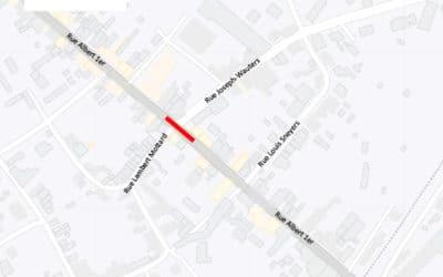 Travaux – Rue Albert 1er – du 21 au 28 janvier