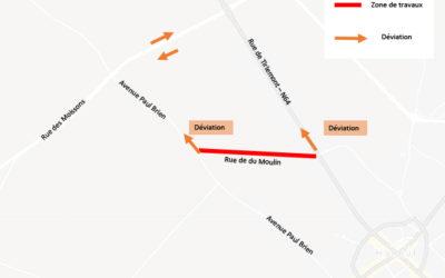 Travaux – rue du Moulin du 2 au 5 mars