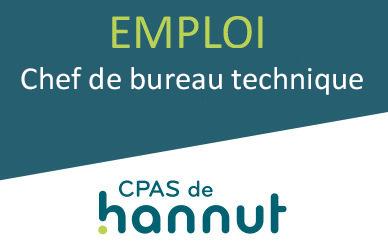 CHEF DE BUREAU TECHNIQUE A1 SP(H/F)–CPAS de HANNUT