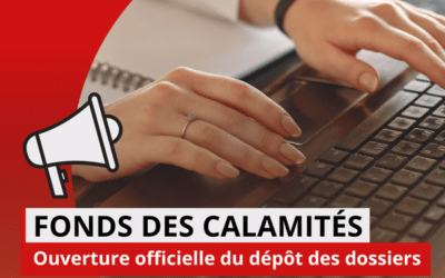 INONDATIONS DU 14 AU 16 JUILLET – Fonds des calamités
