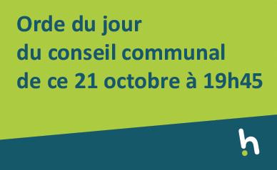 Conseil communal du 21 octobre à 19h45